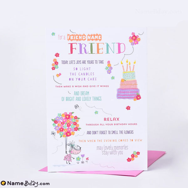 Marvelous Happy Birthday Cards For Friends With Name Funny Birthday Cards Online Fluifree Goldxyz