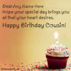 Remarkable Happy Birthday Cousin Images With Name Funny Birthday Cards Online Aboleapandamsfinfo