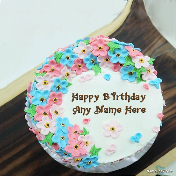 Wondrous Free Birthday Cake With Name And Photo Editor Online Personalised Birthday Cards Arneslily Jamesorg