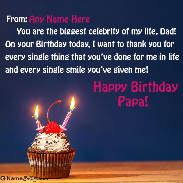 Happy Birthday Papa Images With Name