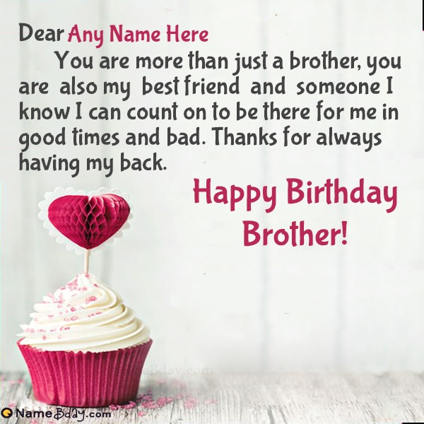 Happy Bday Wishes For Brother With Name