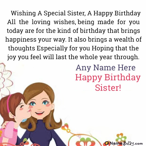 Download Happy Birthday Sister Pics With Name