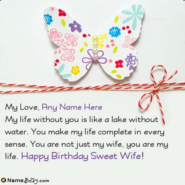 Happy Birthday Wife Wishes Images With Name