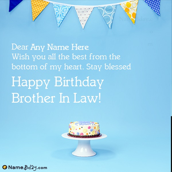 Birthday Card For Brother In Law With Name