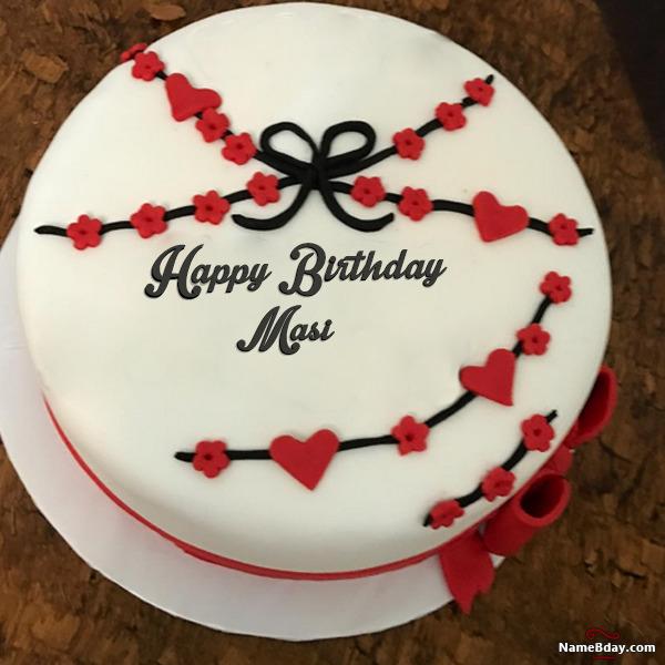 happy birthday masi image of cake card wishes