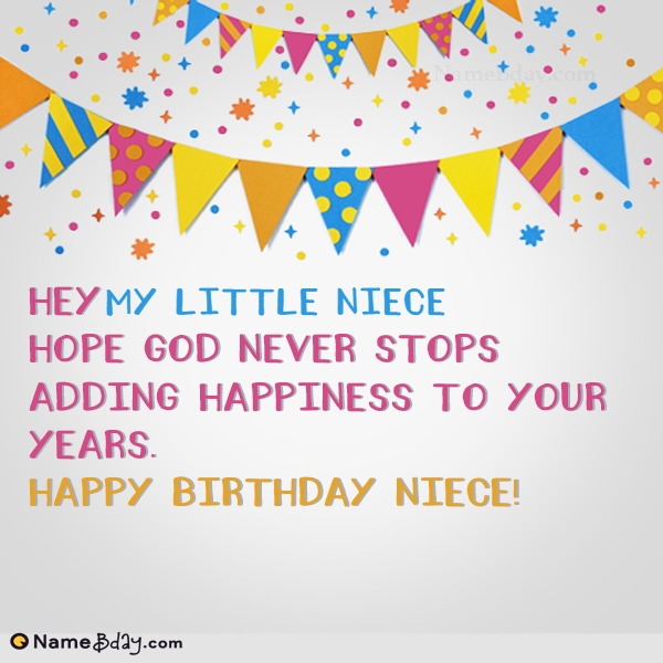 Happy Birthday My Little Niece Image Of Cake, Card, Wishes
