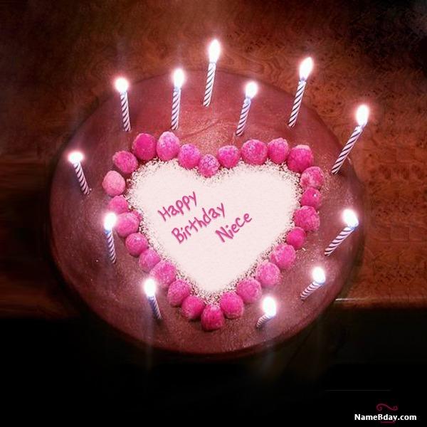 Happy Birthday Niece Image Of Cake, Card, Wishes