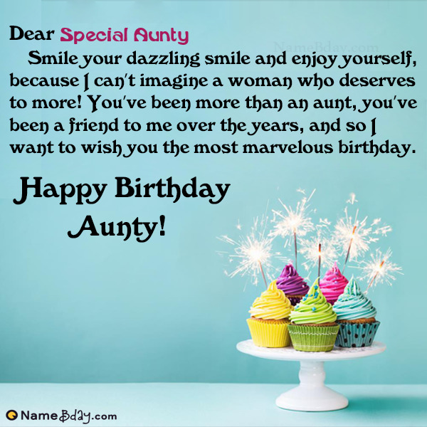 Make Birthday Greetings For Aunt With Name