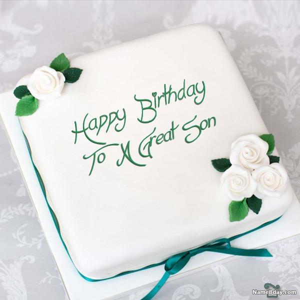 Write Name On Birthday Cake For Boys With Photo