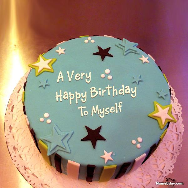 happy birthday to myself image of cake card wishes