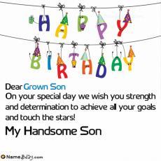 happy birthday grown son