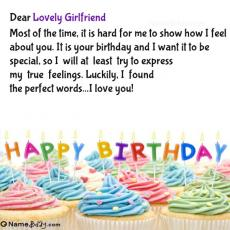 happy birthday lovely girlfriend