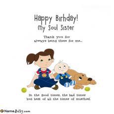 happy birthday my soul sister