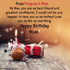 happy birthday pregnant mom