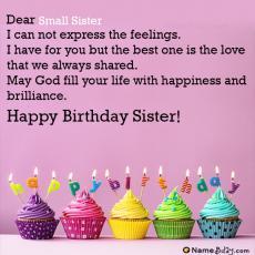 happy birthday small sister