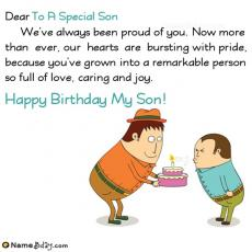 happy birthday to a special son