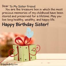 happy birthday to my sister friend